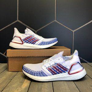 Adidas Ultraboost 20 USA White Blue Size 9